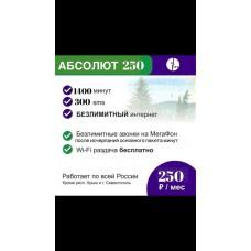 """Тариф """"Абсолют+"""" 250р/мес"""