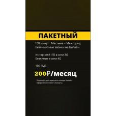 """Тариф Билайн """"Пакетный 200"""""""